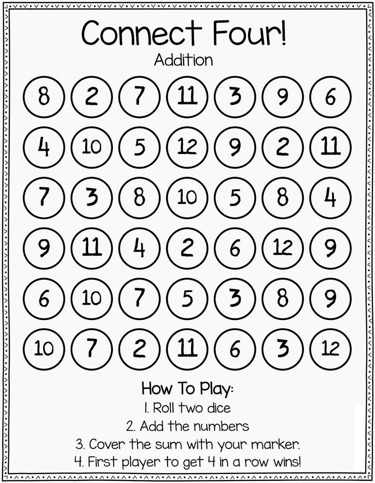 Printable Math Games Fun For Kids