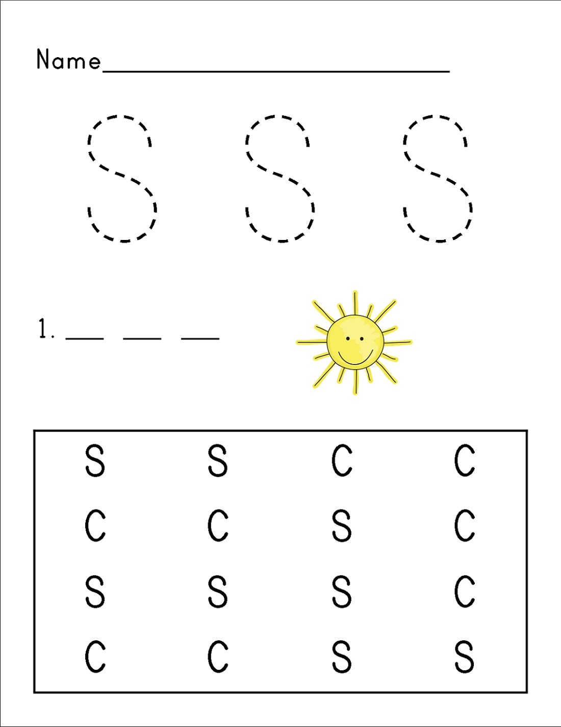 Printable Letter S Worksheets For Kids