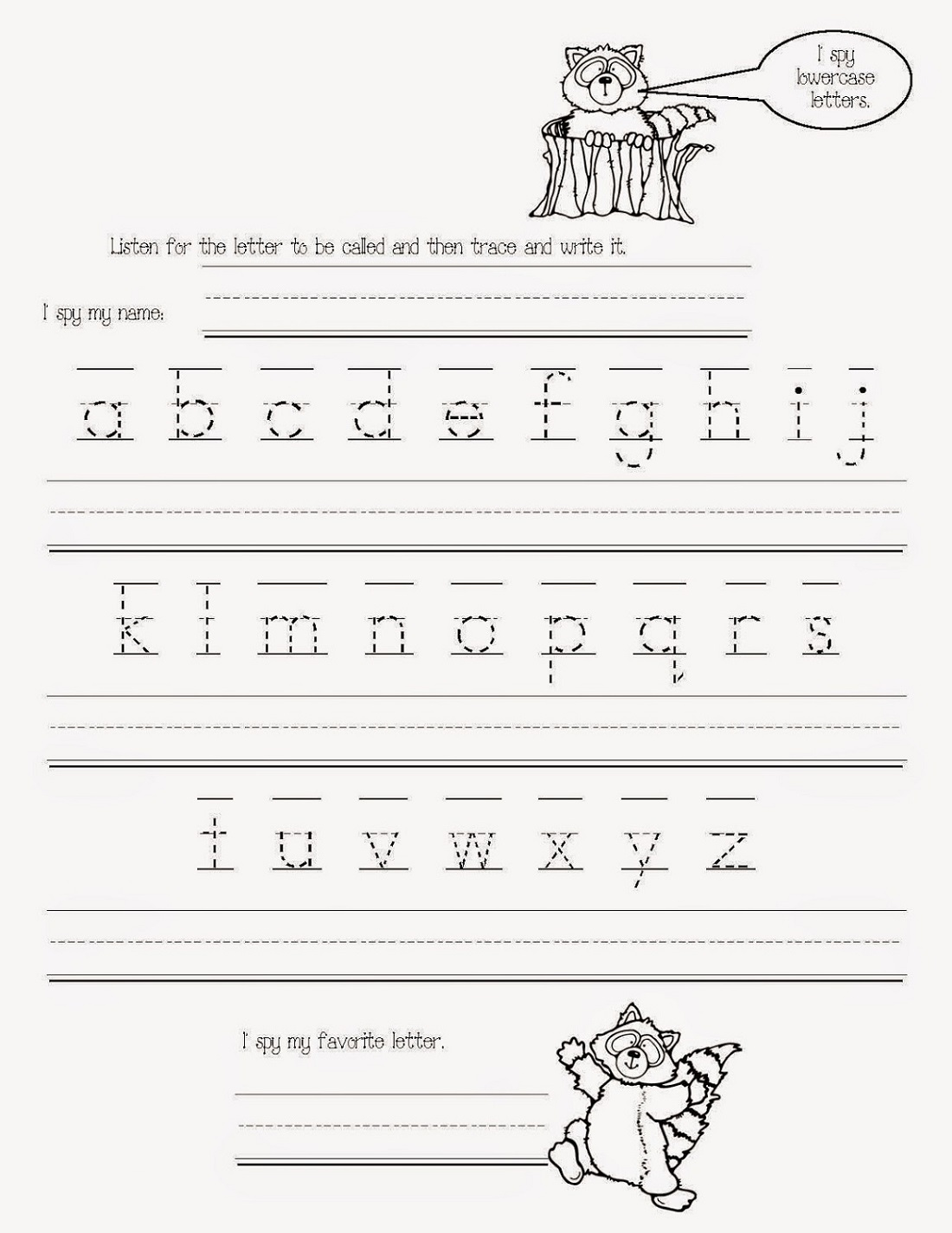 Printable Traceable Alphabet Worksheets A Z