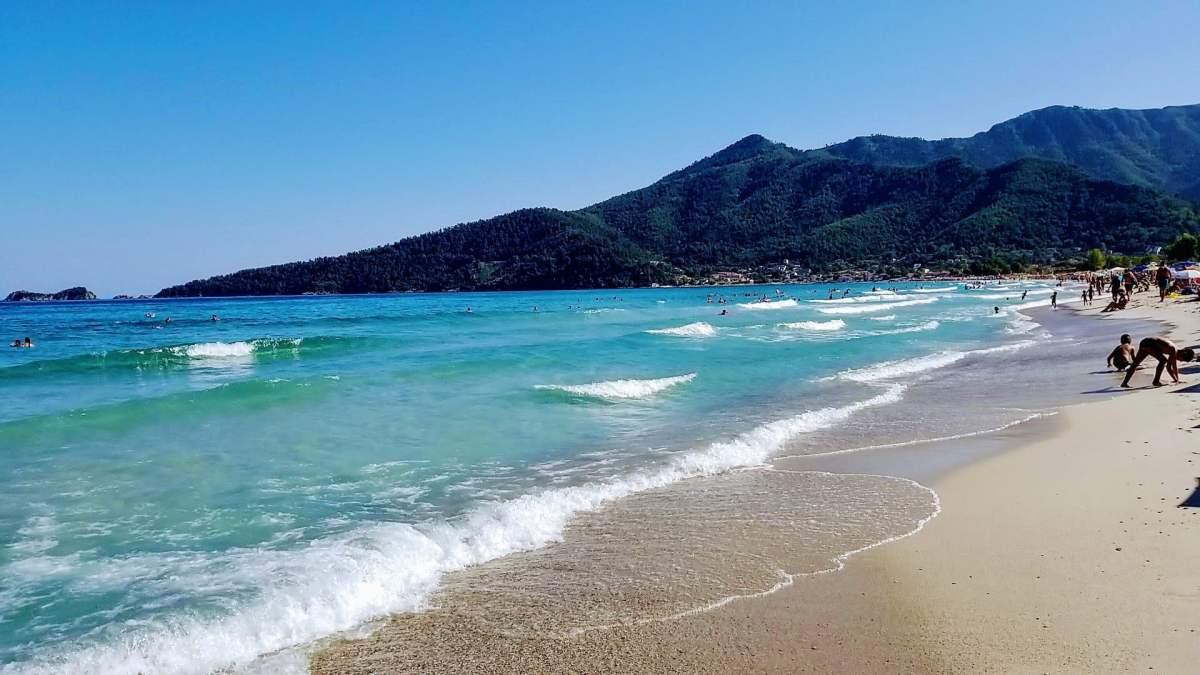 Golden Beach'in uzun kumsal şeridi