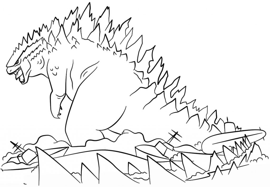 Godzilla Coloring Pages To Print 101 Coloring