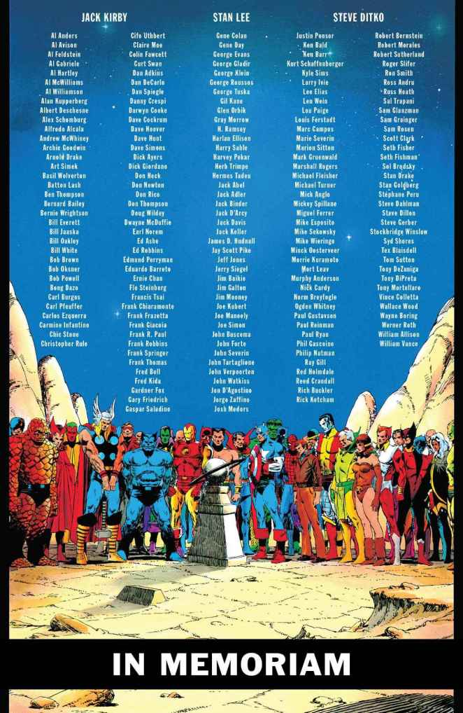 Marvel Comics #1000 in memoriam