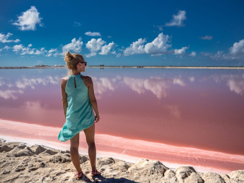 Różowa laguna w Las Coloradas