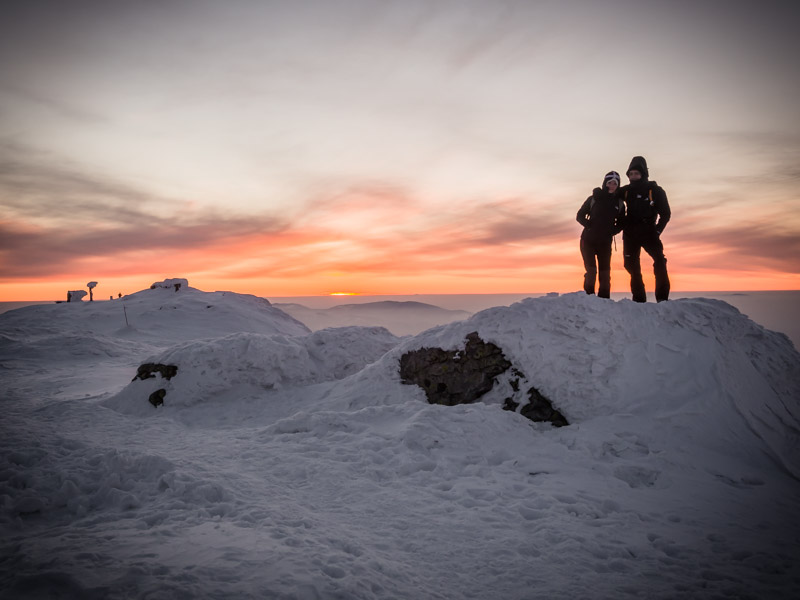 Babia Góra zachód słońca