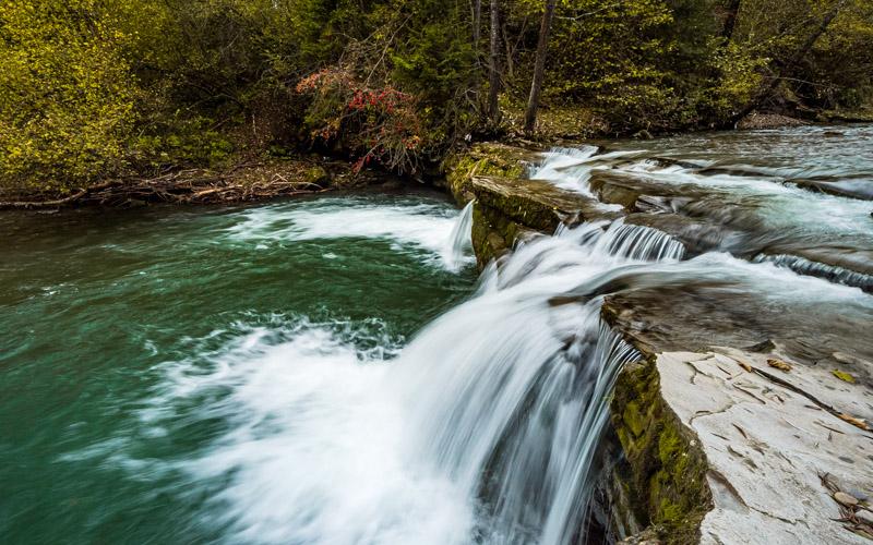 Wodospad Pod Upłazem, Kacwin