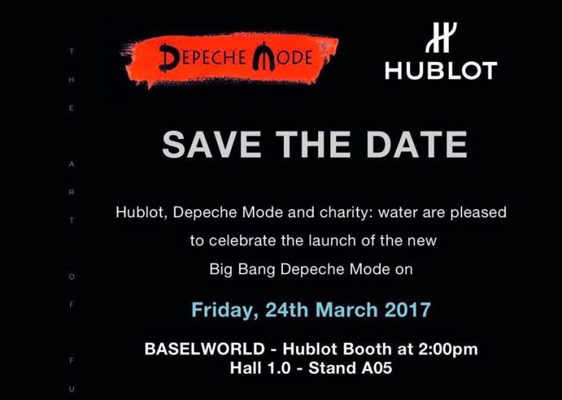 depeche MODE / Hublot / charity:water