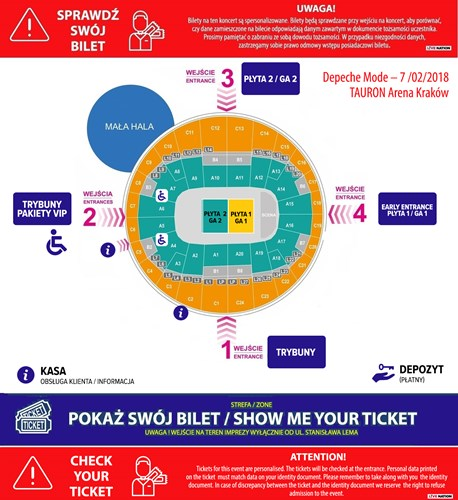 Koncert depeche MODE - Tauron Arena