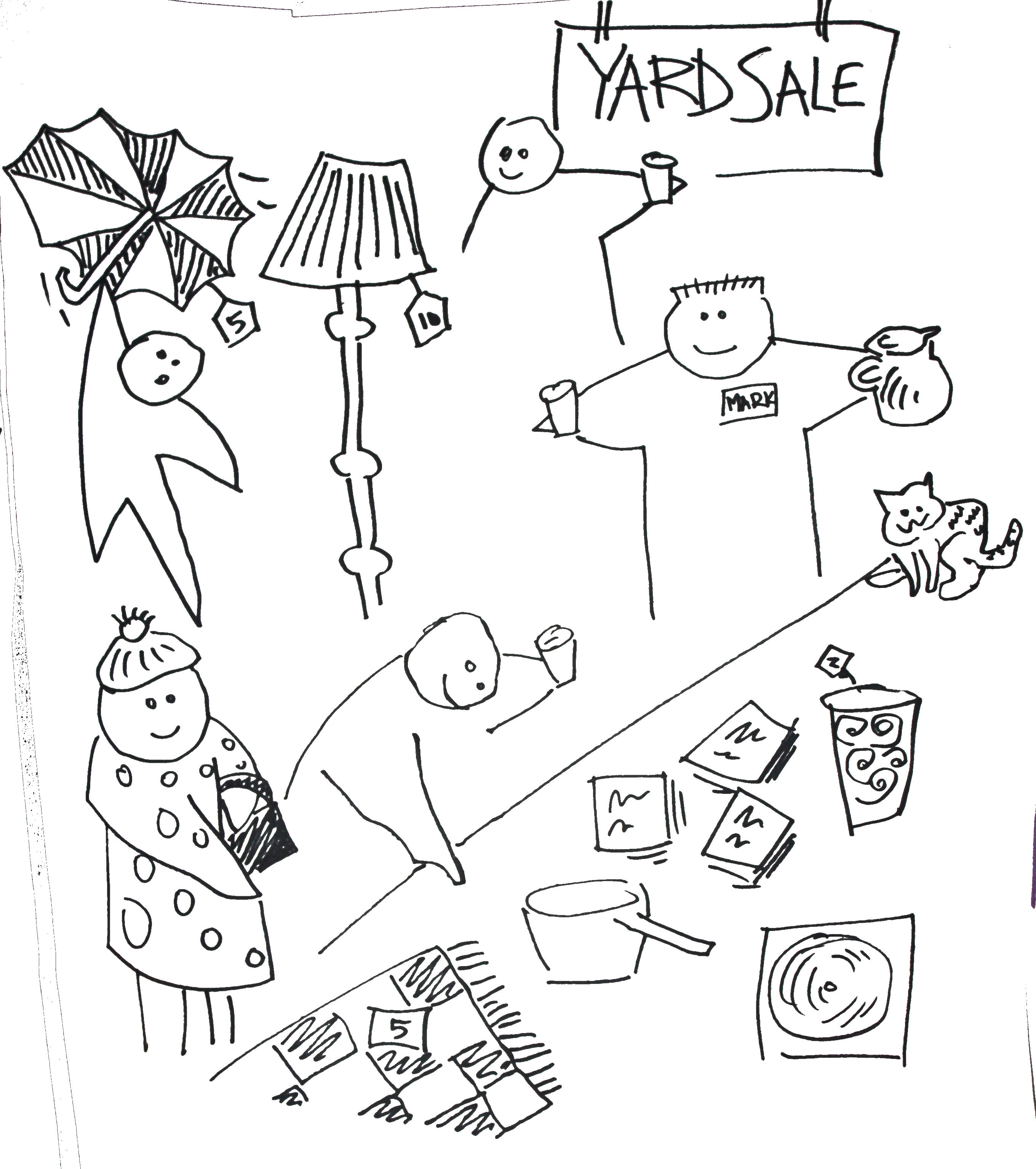 Have a yard sale (or something else) with a focus on making connections with your neighbours