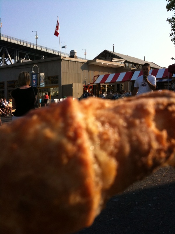 Granville Island Square with Giant Apricot-Almond Rugelach!  Notice the interest!