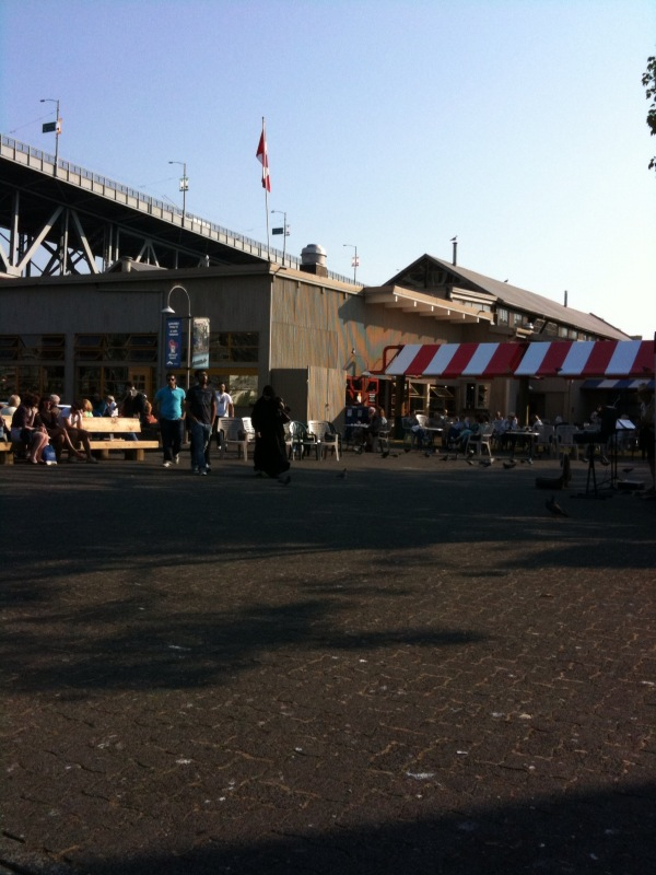 Granville Island Square - lovely but unwelcoming