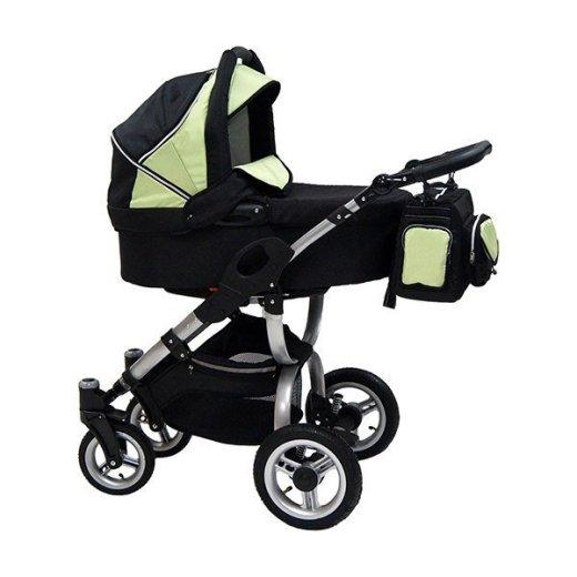 Детская коляска Reindeer City Cruise 3 в 1 (черный/зеленый)