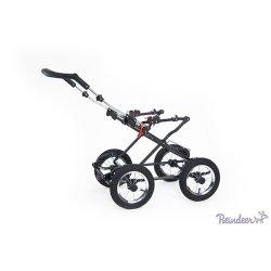Детская коляска Reindeer Mega 2 в 1 (фиолетовый с рисунком)