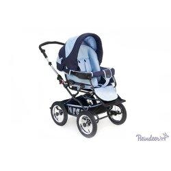 Детская коляска Reindeer Mega 3 в 1 (синий/голубой)