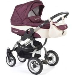 Детская коляска Reindeer City Nova 2 в 1 (Бордовый/белый)