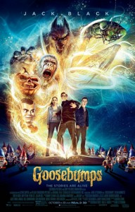 Jack Black, Odeya Rush and Dylan Minnette star in Goosebumps