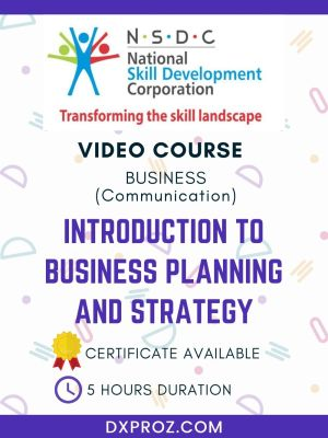 INTRODUCTION TO BUSINESS PLANNING AND STRATEGY