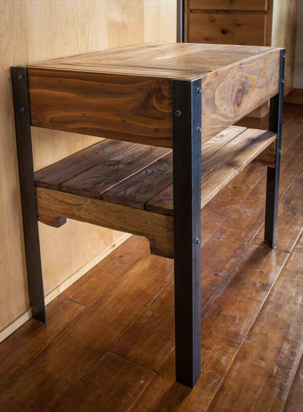 related posts diy rustic pallet end table diy pallet side table with ...