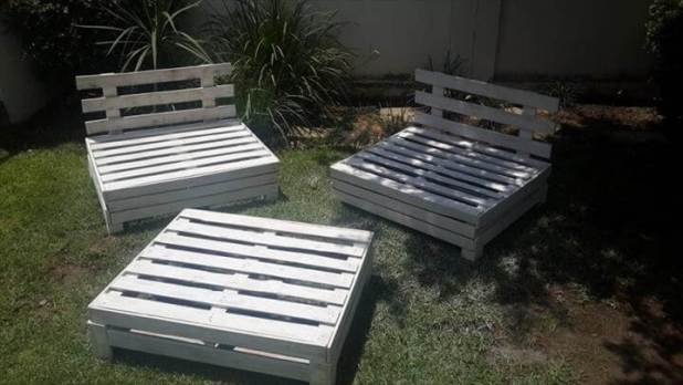 Diy Designed Pallet Patio Furniture Set 101 Pallets. How To Make Garden Chair From Pallets   How To