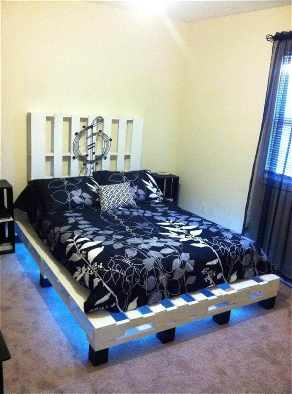 DIY Pallet Platform Bed | 101 Pallets on Bed Pallet Design  id=48282
