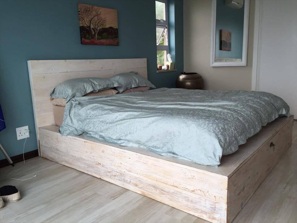 DIY Pallet Platform Bed | 101 Pallets on Bed Pallet Design  id=60884
