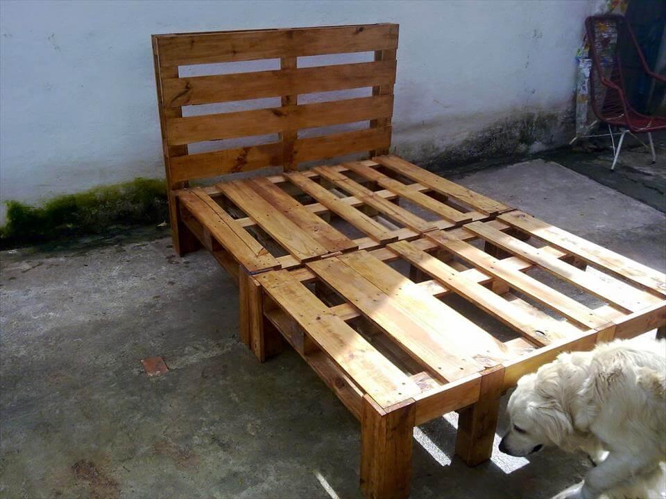 DIY Wooden Pallet Bed Design | 101 Pallets on Bed Pallet Design  id=83022