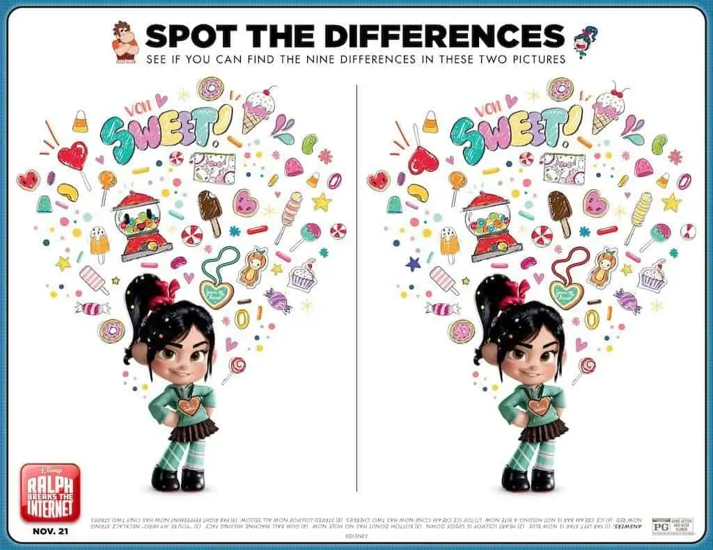 Free Printable Ralph Breaks The Internet Activity Sheets