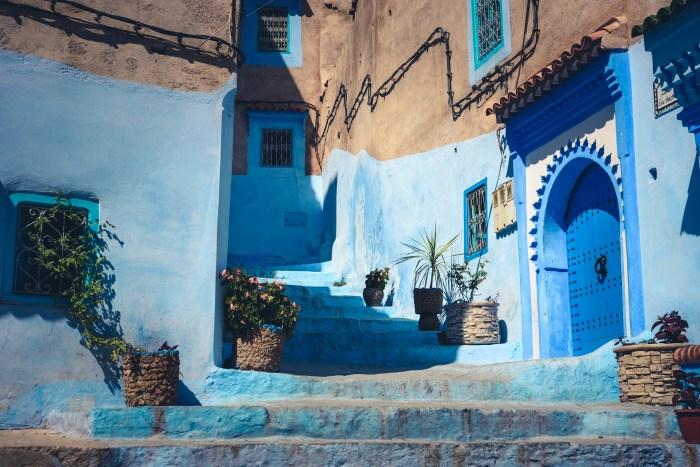 из улиците на Шефшауен, Мароко