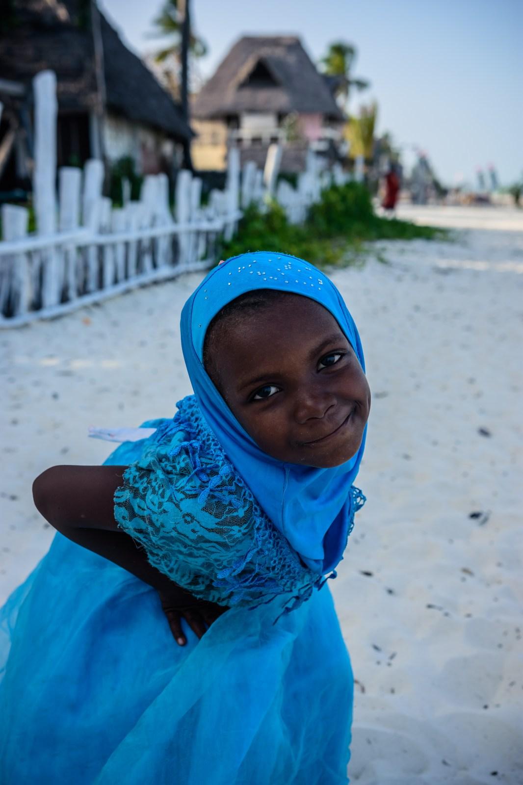 Надя - едно от децата на Занзибар