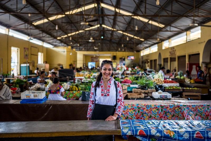 Пазарът във Валядолид, Мексико