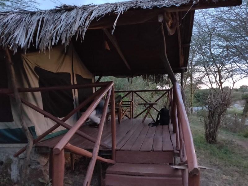 Палатките на Крокодил Камп - Талек, Кения