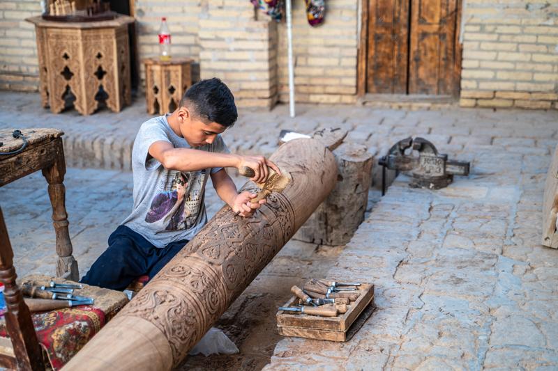 Дърворезба - Хива, Узбекистан