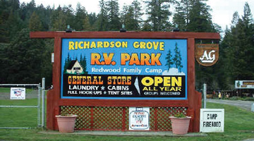 Richardson Grove RV Park, Garberville
