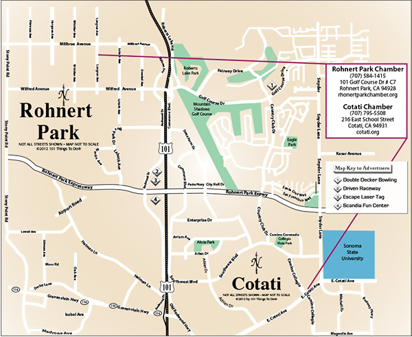 Rohnert Park Fire Map.Map Of Rohnert Park And Cotati 101 Things To Do Wine Country