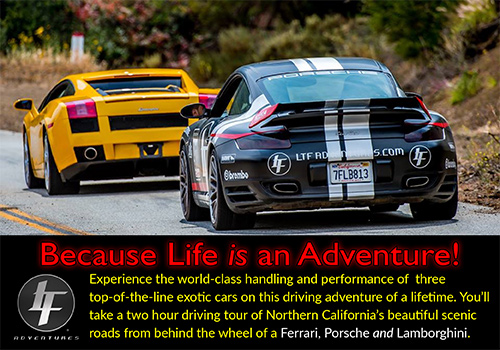 LTF Adventures puts you behind the wheel of an exotic car!