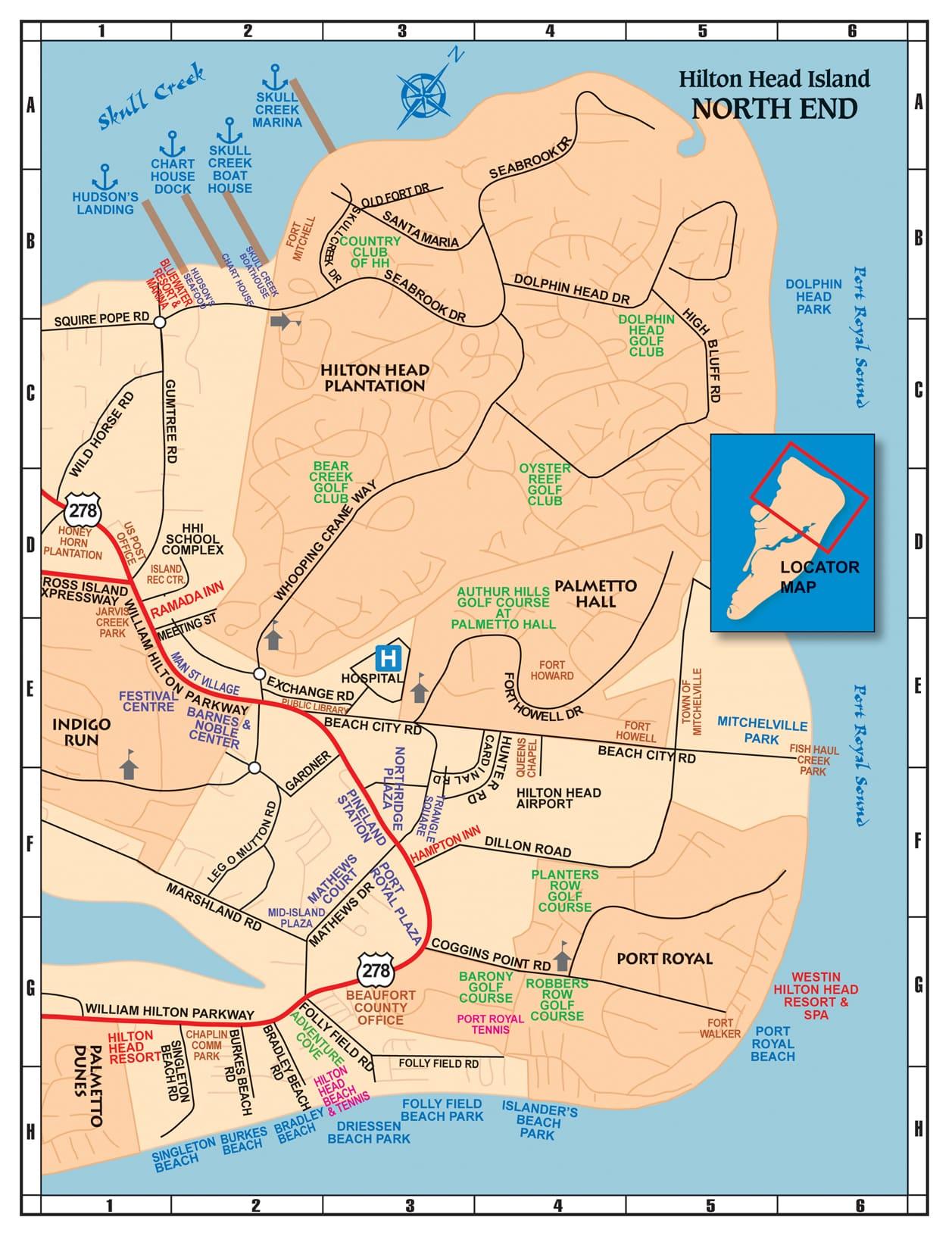 Hilton Head Island South Carolina Map.Maps Of Hilton Head The Lowcountry Savannah 101 Things To Do