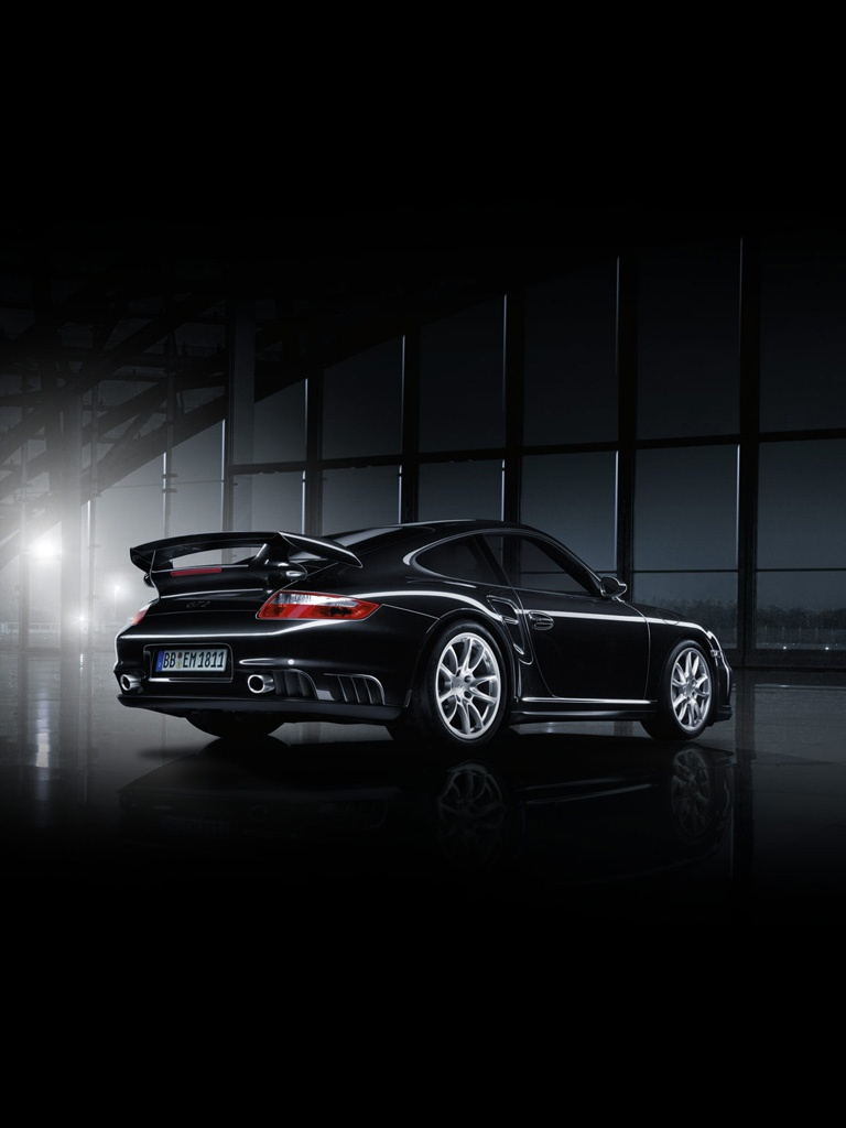 Cars Porsche 911 GT2 Black Edition IPad IPhone HD