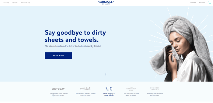 Best Shopify Stores Miracle di aloft