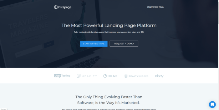 instapage di landing page builder