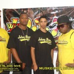 Mehean Jones-Quinn aka DJ Q89 with Dem Island Boys