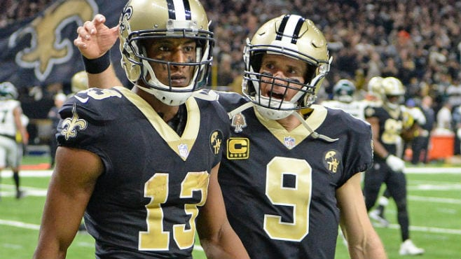 Image result for Drew Brees and Michael thomas Photos