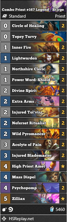 Combo Priest #167 Legend - St1rge
