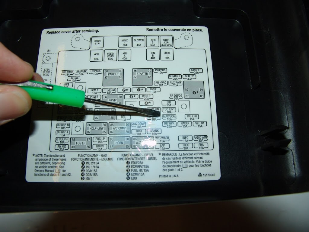 1999 Gmc Sierra Fuse Diagram