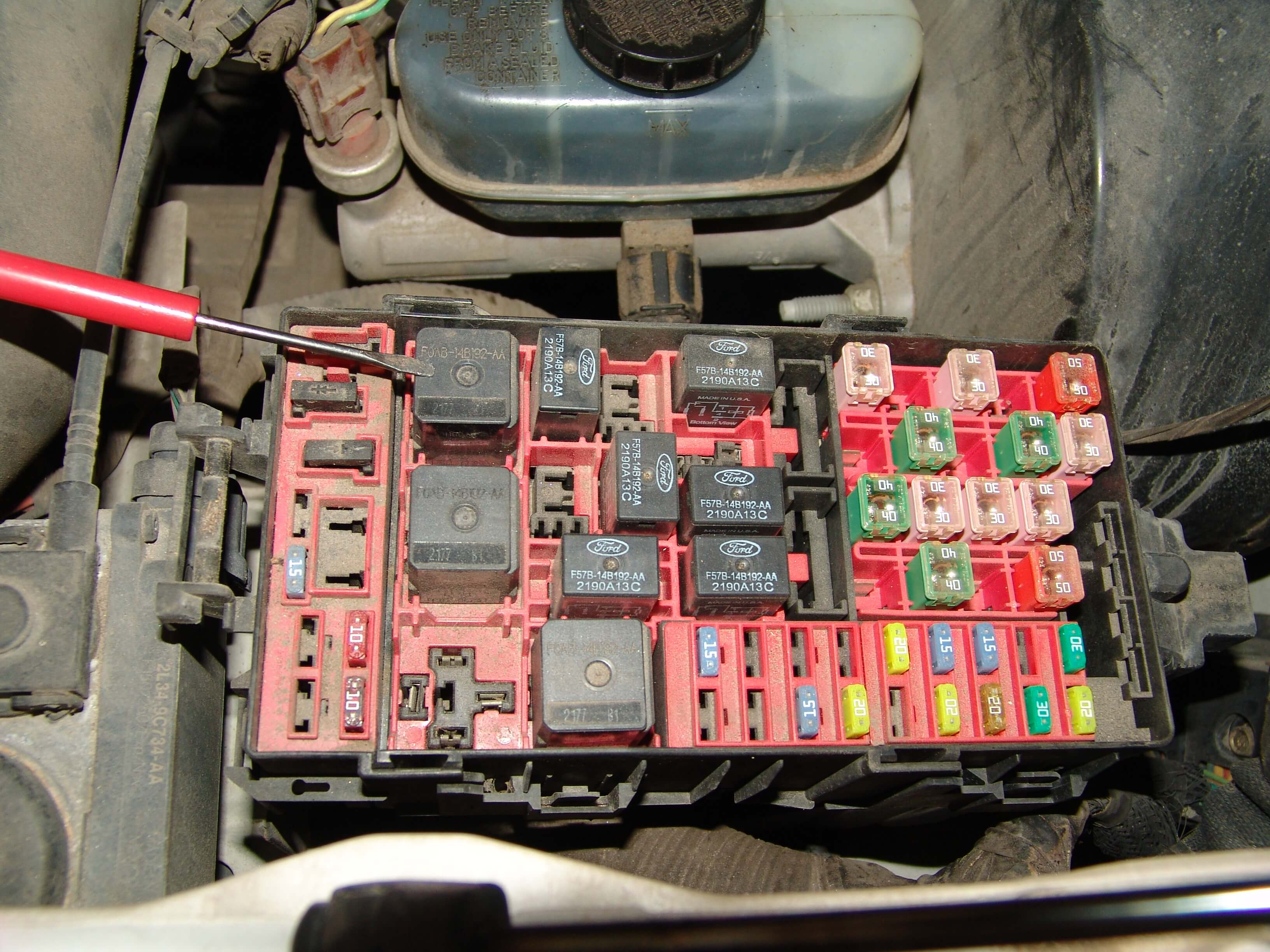 Testing the output signal of the PCM power relay can also be done at  several fuses in the underhood fuse/relay box. Fuse number 18.