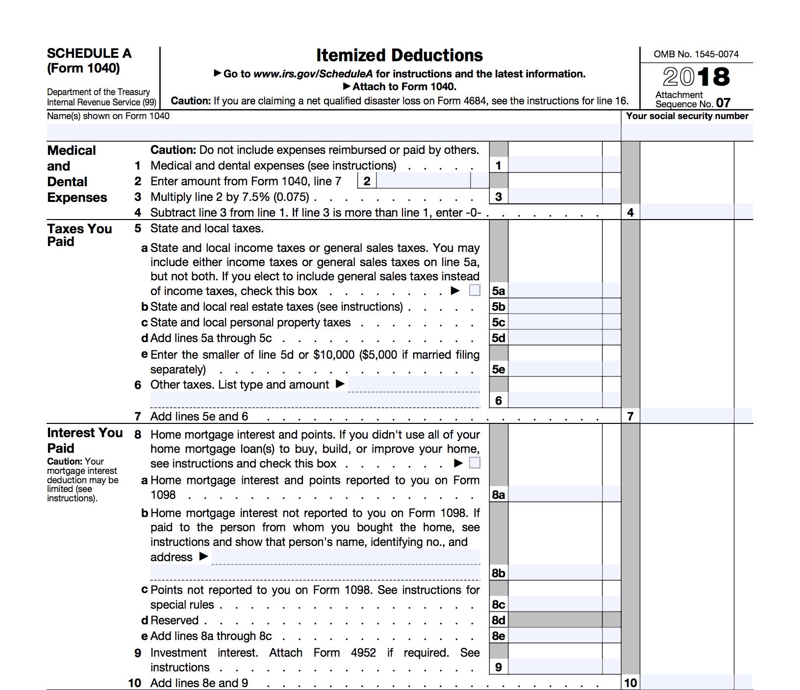 Form Standard Deduction