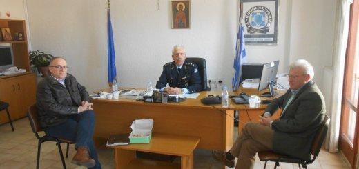 νέος Αστυνομικός Διευθυντής Λασιθίου επίσκεψη Θραψανιώτη
