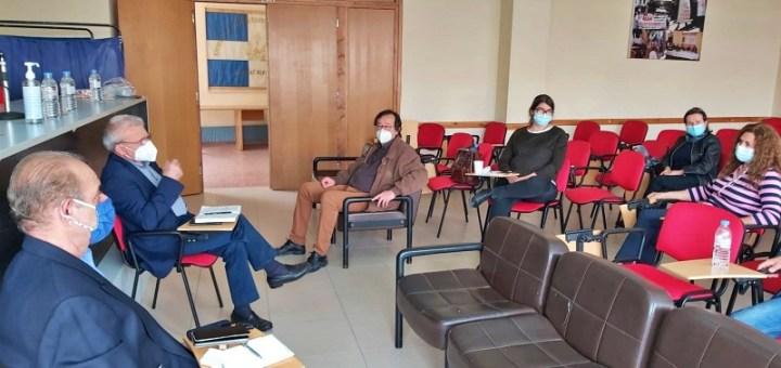 Συνάντηση Θραψανιώτη με την Διοίκηση του Εργατικού Κέντρου Λασιθίου