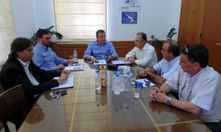σύσκεψη στη περιφέρεια Κρήτης με τον οργανισμό ανάπτυξης Κρήτης