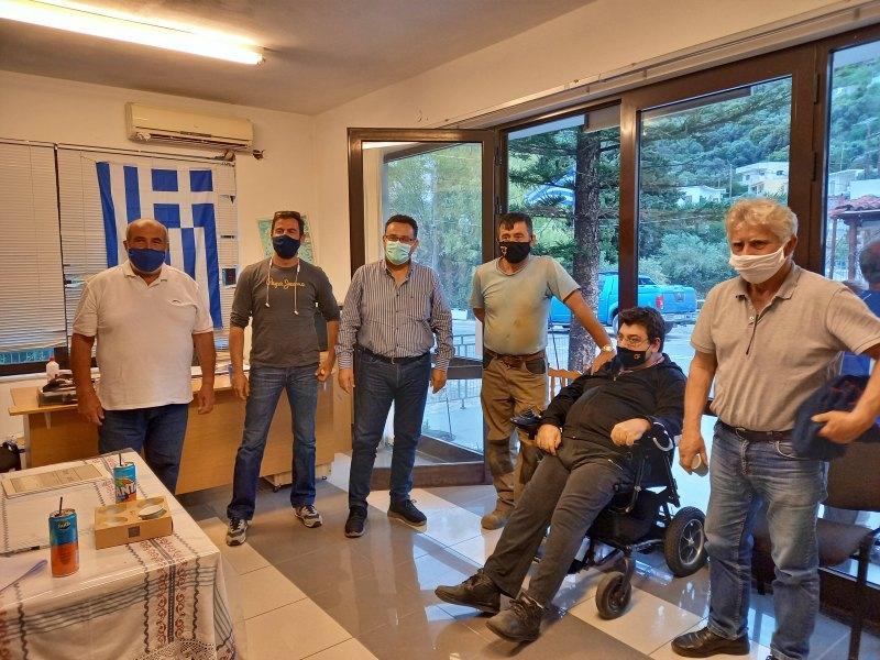 Επίσκεψη στη Σφάκα Σητείας, αντιπροσωπείας του ΚΚΕ και συνάντηση με εκπροσώπους και κατοίκους  του χωριού
