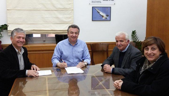 από την υπογραφή της σύμβασης στη περιφέρεια Κρήτης