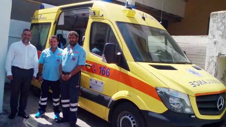 νέο ασθενοφόρο στο δήμο οροπεδίου Λασιθίου